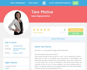 Tara Molina's reviews on rankmyagent.com