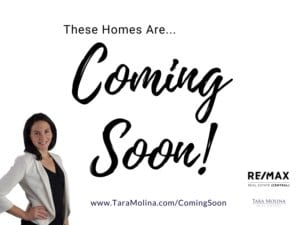 Homes Coming Soon to Market
