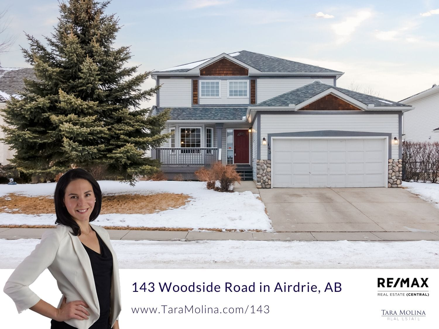 143 Woodside Road in Airdrie, AB